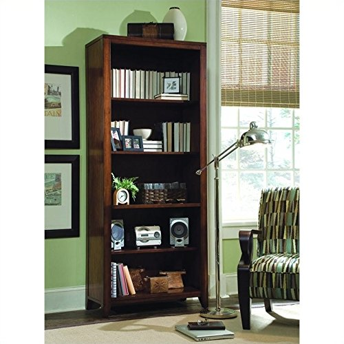 Soho Cherry Finish (Beaumont Lane Tall Bookcase in Rich Medium Brown)