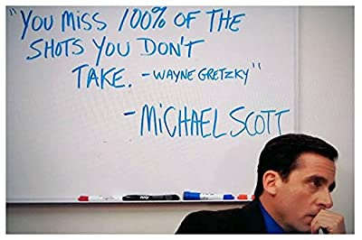 "Michael Scott's Motivational Quote..""You Miss 100 % of the Shots…"" Poster Print 12X18 inch (Rolled) By A-ONE POSTERS"