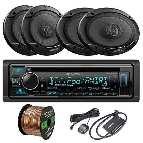 - Kenwood KDC-BT33 Single-DIN in-Dash CD/Bluetooth Receiver, 2 x Kenwood KFC1666S 6.5