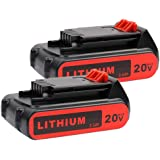 2 Pack LBXR20 Battery 2500mAh Replace for Black and Decker 20V Battery Max Lithium LB20 LBX20 LST220 LBXR2020-OPE…