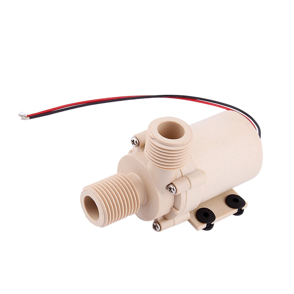 Yosoo Solar DC 12V Hot Water Circulation Pump Brushless Motor Water Pump 3M Low Noise (12V)Selling High Quality From Wasooo by Yosoo