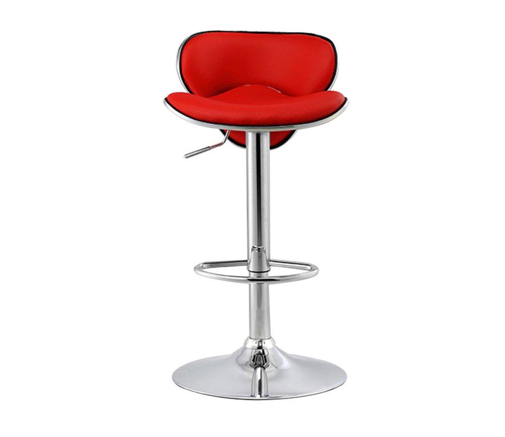 GRJH® バースツール、バーシンプルモダンハイスツールチェアリフト回転カフェカウンターヘアカットビューティーハイバッククリエイティブ背広キッチンチェア6080cm 安全性,快適 (色 : 赤) B07D48MNG3 赤 赤