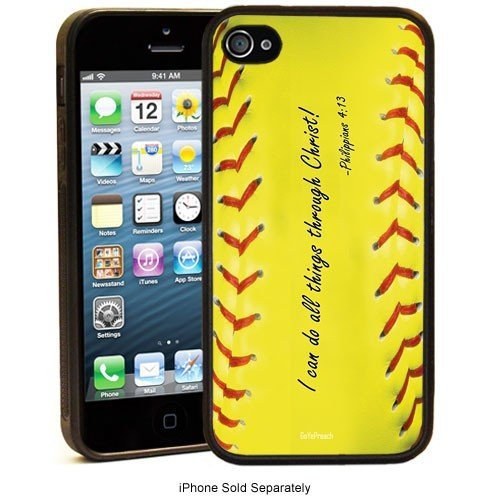 Cell World -Philippians 4:13 Softball Baseball Basketball Christian-For Apple iPod Touch 6, 6th Generation, Made and shipped from the USA Style 129 (Skating Ipod 5 Cases)