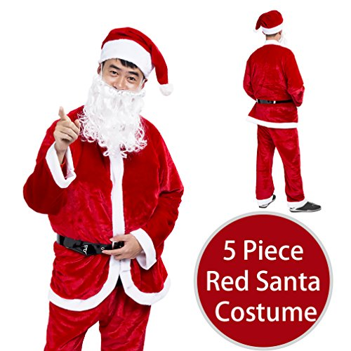 Best Friend Costumes Men (jaaytct Christmas Santa Claus Costume Santa Suit Outfit Holiday Party Cosplay Santa Costume For Men Adult (Red))