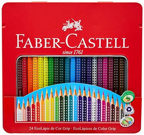 Lápis de Cor EcoLápis Colour Grip 24 Cores, Faber-Castell