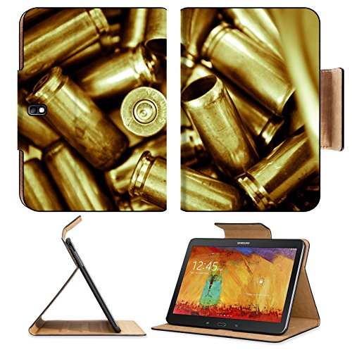 Samsung Galaxy Tab Pro 10.1 Tablet Flip Case Composition from a several shell casings symbolizing army reserve Conception on a IMAGE 26195922 by MSD Customized Premium Deluxe Pu Leather generation Acc