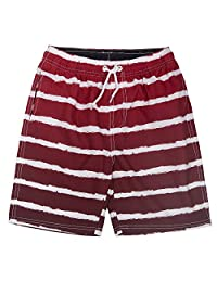 ICE CROSS Older Boys Swim Shorts - Youth Quick Dry Swim Trunks with Mesh Lining