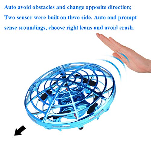 Egoelife Flying Ball Toys Drones, Hand-Controlled Drone Quadcopter Flying Toys for Boys or Girls - Scoot Flying Ball Drone Hands Free Drone Flying Toys for Kids or Adults (Golden) by Egoelife (Image #4)