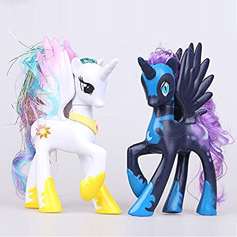 gg Little Pony MAGIC White Princess Celestia Collector Action Figure Toy Gifts (The Dazzlings Adagio)