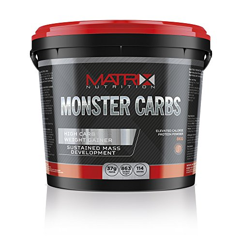 Matrix Monster Carbs 8KG is a high carbohydrate supplement carefully engineered to help you increase weight and muscle mass fast. (Chocolate Mint) by Matrix Nutrition by Matrix Nutrition