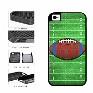 Buffalo or Die Football Field 2-Piece Dual Layer Phone Case Back Cover Apple iPhone 4 4s