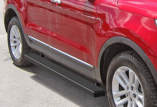 APS iBoard (Black Powder Coated 5 inches) Running Boards | Nerf Bars | Side Steps | Step Rails for 2011-2019 Ford Explorer Sport Utility 4-Door