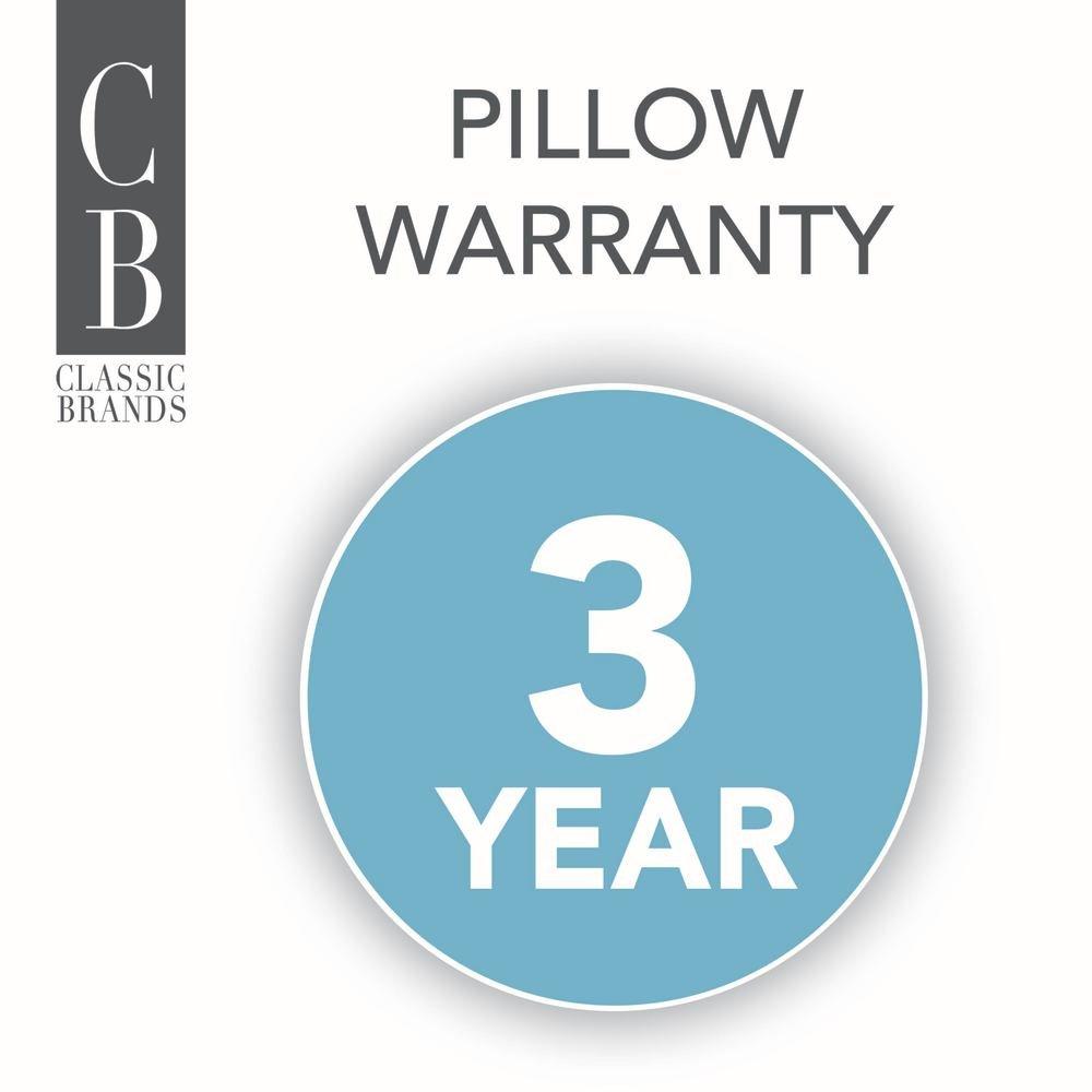 2 Pack Classic Brands Quiet Sleep Gel Fiber Down Alternative Bed Pillows 810023-6030 Standard