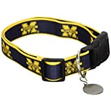 Sporty K9 Collegiate Michigan Wolverines Dog Collar, Medium/Large  - New Design