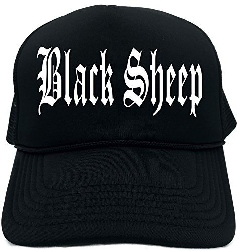 (Funny Trucker Hat (BLACK SHEEP) Unisex Adult Foam Retro Cap )