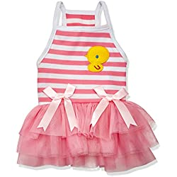 SMALLLEE_LUCKY_STORE Pet Chick TUTU Dresses, Pink, X-Small