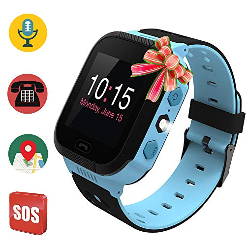 Price comparison product image Kids Smart Watch,  Waterproof GPS Tracker,  Child Phone Watch,  SOS Alarm Clock Flashlight,  Smartwatch Phone with GPS Locator,  Voice Chat,  Math Games for Back to School Children Age 3-14 Boys Girls…