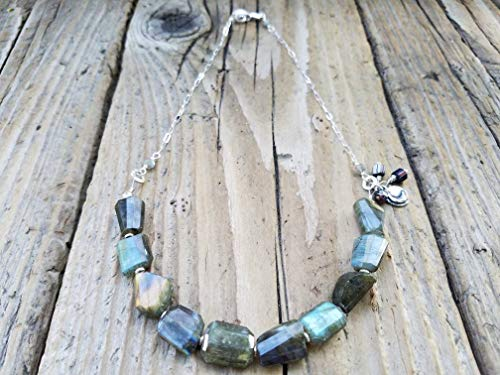 - Labradorite and Sterling Silver Necklace