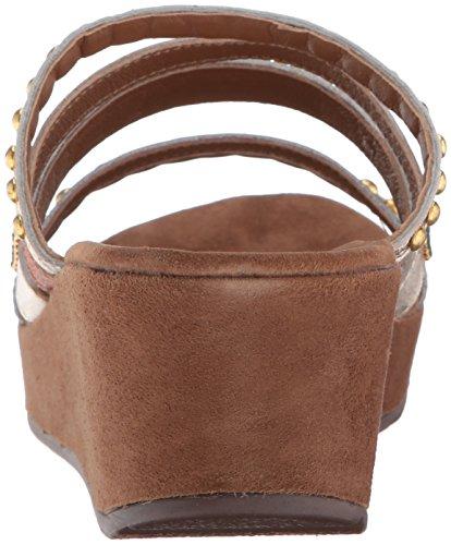 Sandale Compensée Étape Ressort Pour Femmes De Oletha Or / Multi