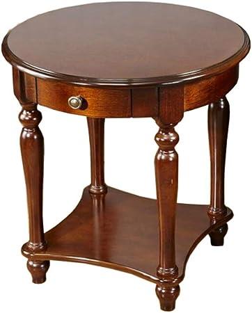 Jcnfa Tables Table D Appoint Ronde En Bois Massif Table Basse