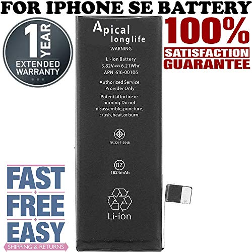 LONGLIFE Replacement Battery for Model iPhone 5SE 0 Cycle - Batería de repuesto (Sprint Note 3 Motherboard)