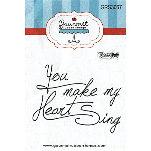 Gourmet Rubber Stamps You Make My Heart Sing Cling Stamps, 2.75 x ()