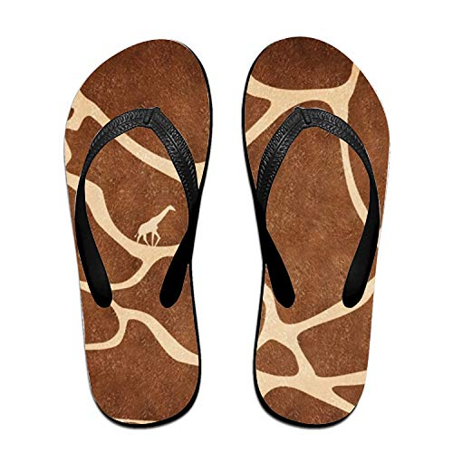 Stylish Lightweight Women's Men's Personalized Beach Flip Flops Giraffe Spot Beach Slippers