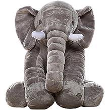 MorisMos Stuffed Elephant Plush Toy Grey 24 inch/60cm