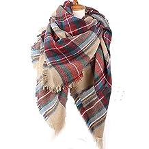 M RACLE Womens Plaid Tartan Grids Checked Large Blanket Scarf Shawl Wrap