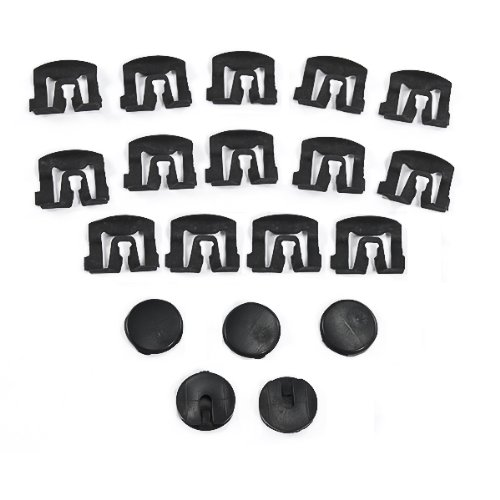 Mustang Rear Window Molding - 1979-1993 Ford Mustang Coupe Rear Window Moulding Clips; 19pc. Replacement Hardware