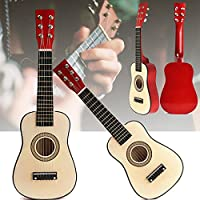 New Red 23 Beginners Practice Acoustic Guitar w/ 6 String For Children Kids By KTOY