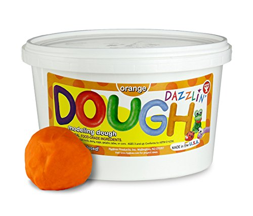 Hygloss Products Kids Scented Dazzlin' Modeling Play Dough, Orange Scent, One, -