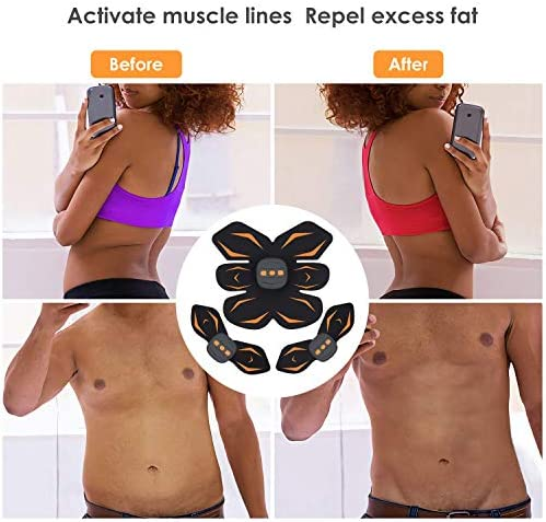 IEANL Abs Stimulator, Muscle Toner - Abs Stimulating Belt- Abdominal Toner- Training Device for Muscles- Ab Workout Equipment Work Out Power Fitness ABS Abdominal Trainer for Man Women-Black 2