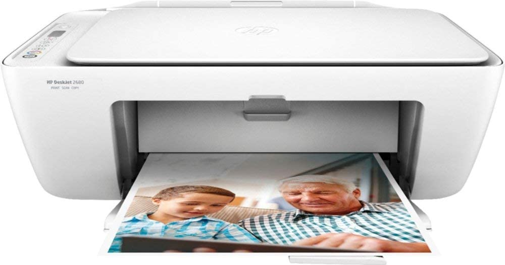 HP DeskJet 2680 Wireless All-in-One Printer, Scan, Copy with HP Smart App, Y5H66A (Renewed)