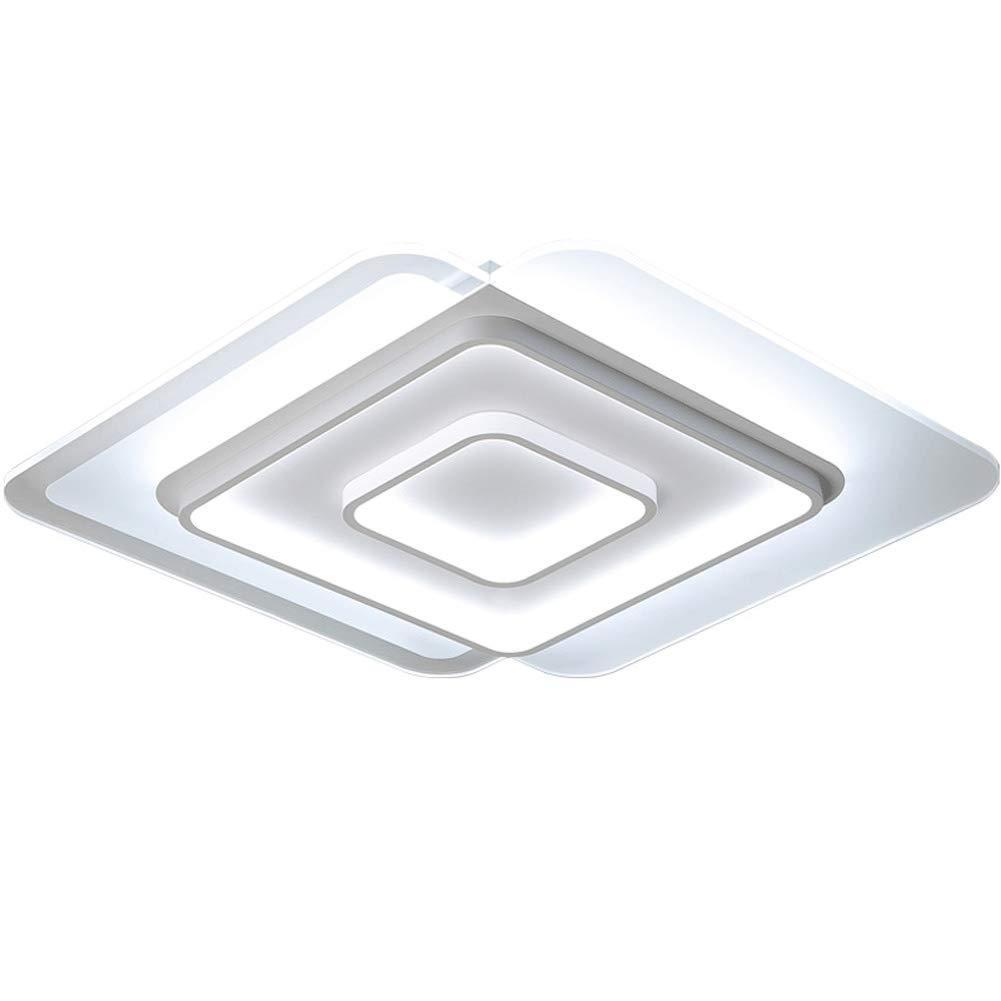 Deckenleuchte LED Originell Quadrat übereinanderlegen Acryl Deckenlampe Interessant Modern Art für Kinderzimmer Esszimmer Wohnzimmer Schlafzimmer Terasse Weißes Licht Ø406cm 30W[Energieklasse A ++]