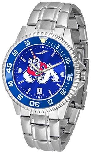 Fresno Wrist Watch State - Fresno State Bulldogs Competitor Steel AnoChrome Color Bezel Men's Watch