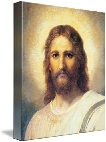 Wall Art Print Entitled Portrait-Jesus-Christ-Heinrich-Hofmann-186512-Wall