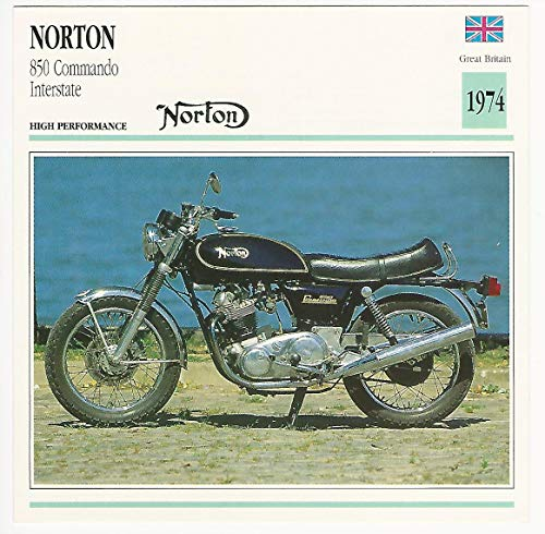 1992 Edito Service, Atlas, Motorcycle Cards, 01.09 Norton 850 Commando