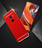 D-kandy 3 In 1 Electroplated Bumper PC Hard Back Cover Case For Xiaomi MI MIX 2 (RED)