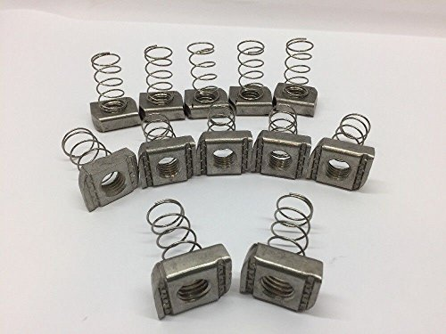 Cooper B-Line Channel Nut With Spring (Lot of 12) N255SS6 Stainless Steel Type