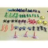 Mini insects Toys 48 Pieces Pack,Plastic Minibeasts 48 Count,Assorted Insects and Bugs