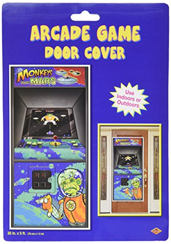 [Arcade Game Door Cover Party Accessory (1 count) (1/Pkg)] (Make Monkey Magic Costume)