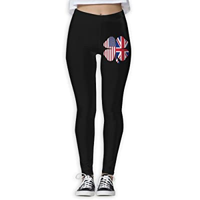 DDCYOGA American British Flag Shamrock Women's High Waist Yoga Leggings Exercise Gym Jogger Pants For Girls