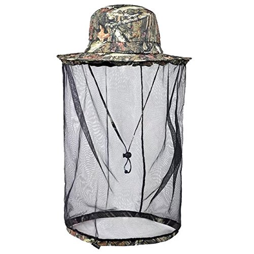 Vrcoco Outdoor Unisex Anti-Mosquito Mask Hat Wide Brim Detachable Fishing Hat with Head Net Mesh Face Protection for Beekeeping Beekeeper,One Size Fit (Talking Heads Suit Costume)