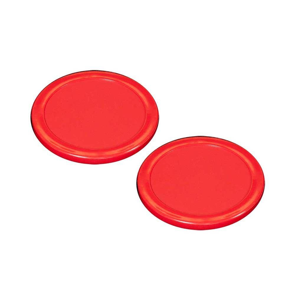 3-1/4'' Shelti Red Air Hockey Puck - Set of 2