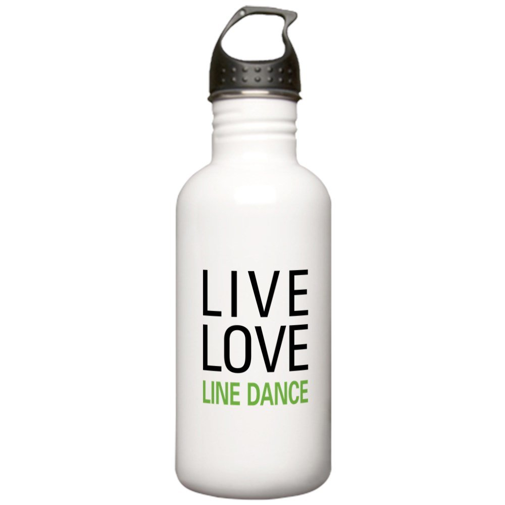 CafePress - Live Love Line Dance Stainless Water Bottle 1.0L - Stainless Steel Water Bottle, 1.0L Sports Bottle