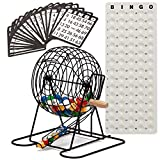 GSE Games & Sports Expert Deluxe Bingo Game Set with Masterboard, Bingo Balls,Bingo Cards (Brass/Black) (Black)