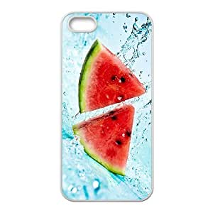 QSWHXN Diy Watermelon Selling Hard Back Case for Iphone 5 5g 5s