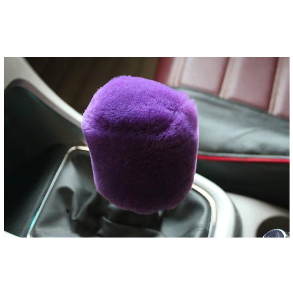 Siyibb Warm Plush Car Handbrake Cover Gear Shift Knob Cover Set Pink