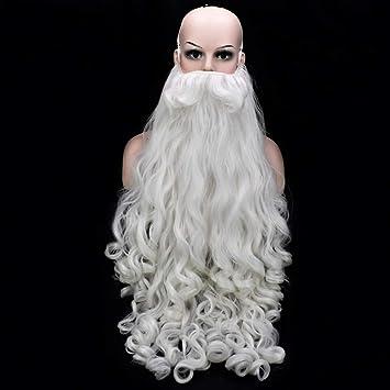 Santa Barba Llena De Alto Blanco Viejo Barba Navidad Caliente ...